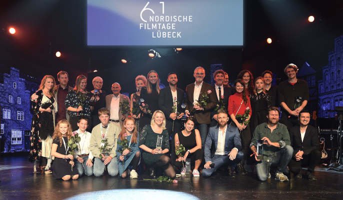 Our Award Winners 2019 with Festival directors Linde Fröhlich + Florian Vollmers © Nordische Filmtage Lübeck